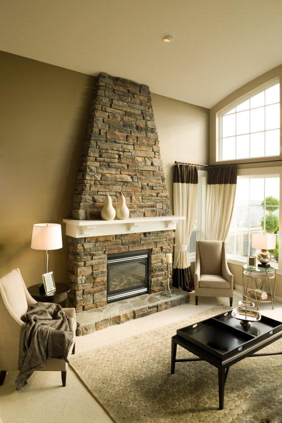 Custom masonry - Stone Fireplace - Laguna Beach CA