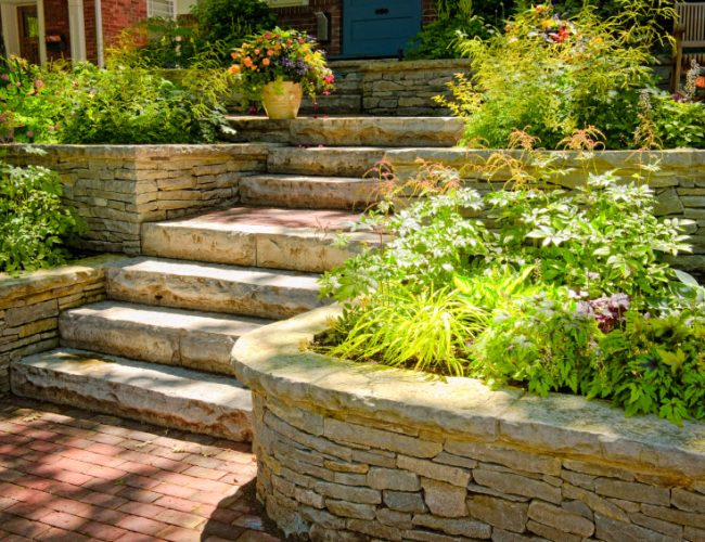 Custom Masonry - Stone Stairs - Dana Point CA
