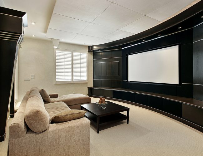 Theater Room With Wide Screen - Laguna Beach CA
