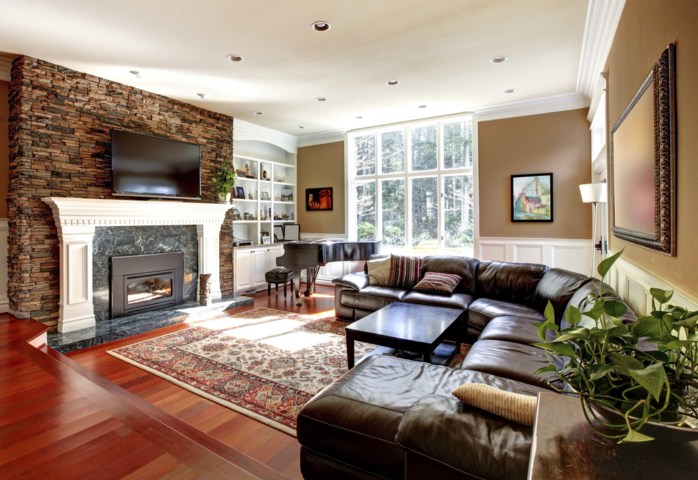 Room Addition with stone fireplace - Dana Point CA