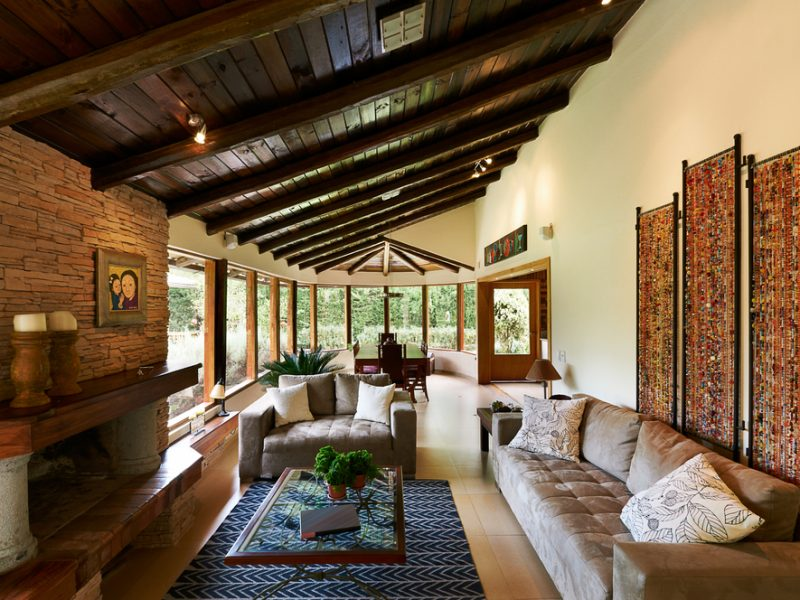 Room Addition With Stone Fireplace - Laguna CA